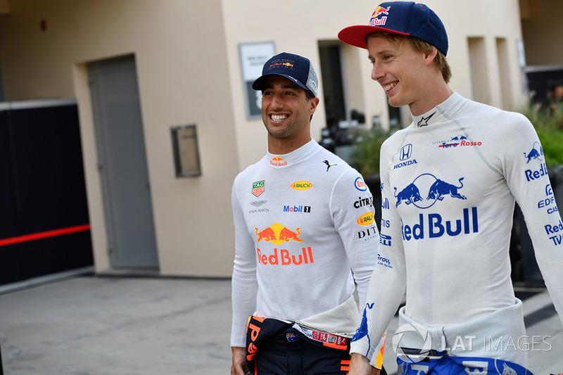 Daniel Ricciardo, Red Bull Racing and Brendon Hartley, Scuderia Toro Rosso