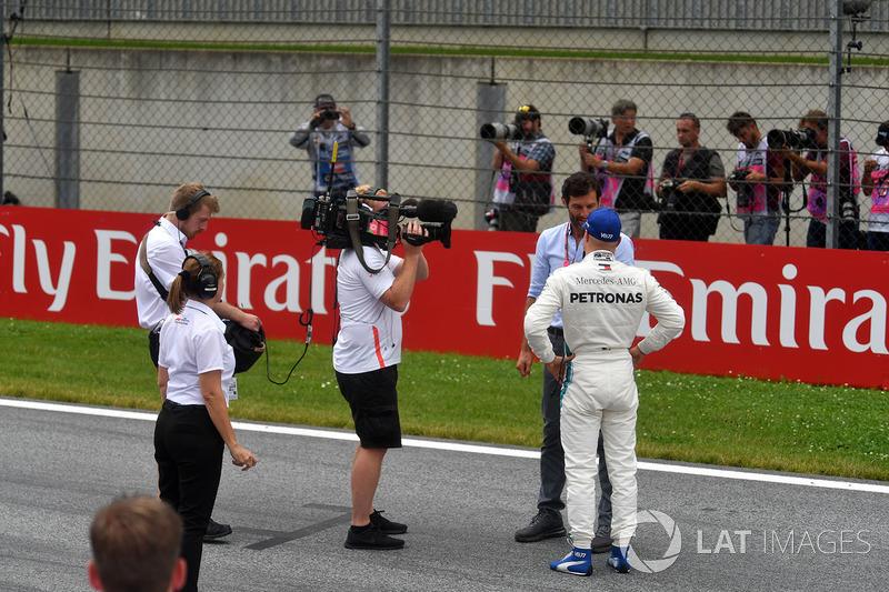 Pole pozisyonu galibi Valtteri Bottas, Mercedes-AMG F1 Mark Webber