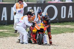 Crash of Pol Espargaro, Red Bull KTM Factory Racing