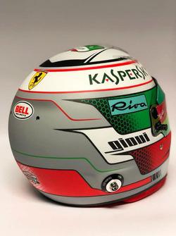 Helmet of Antonio Giovinazzi, Ferrari reserve driver