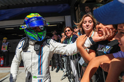 Felipe Massa, Williams celebrates in parc ferme