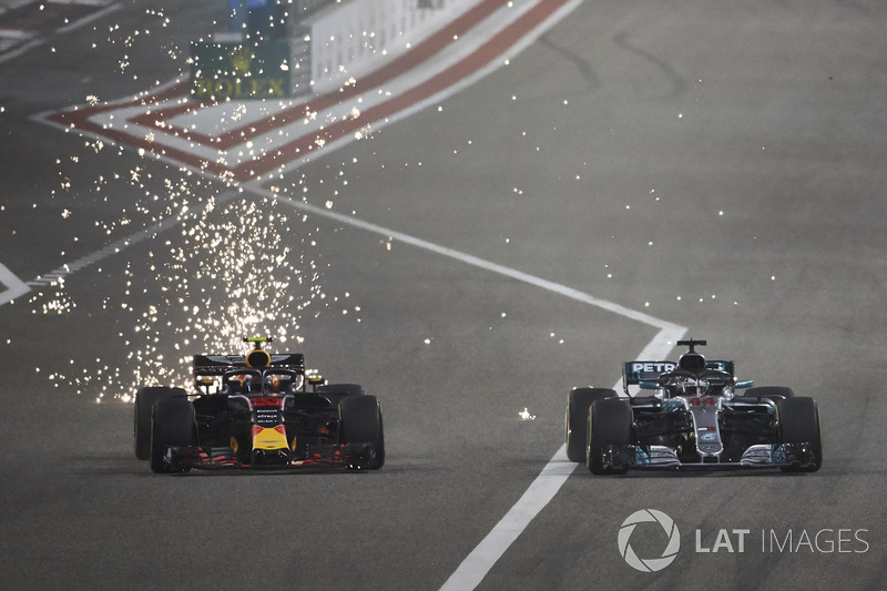 Макс Ферстаппен, Red Bull Racing RB14 Tag Heuer, Льюіс Хемілтон, Mercedes AMG F1 W09