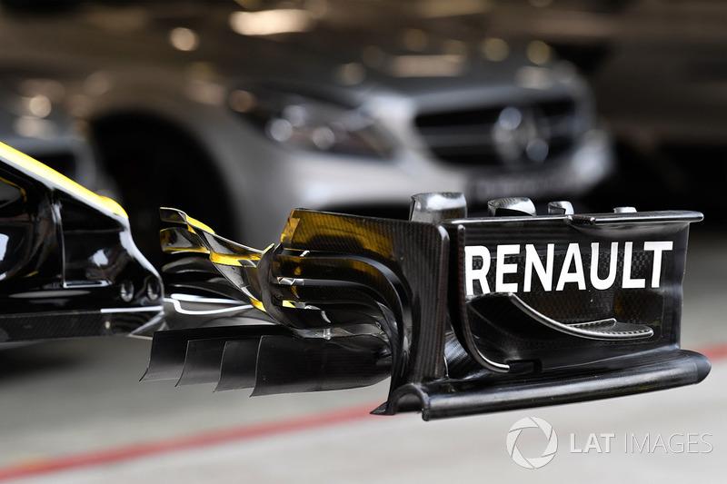 Renault Sport F1 Team R.S. 18 detalles del ala frontal