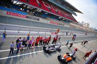 Suasana podium Race 4