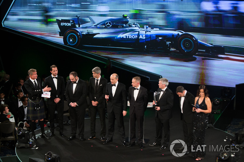 Mercedes AMG F1 team members accept the Racing Car of the Year award for their Mercedes AMG F1 W08