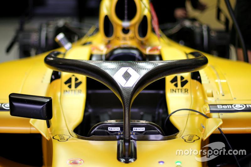 Renault F1 Team, Renault RS16, mit Cockpitschutz Halo
