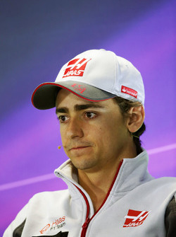 Esteban Gutierrez, Haas F1 Team in the press conference