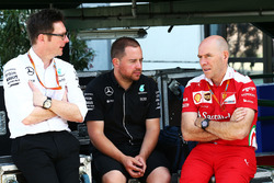 Andrew Shovlin, Mercedes AMG F1 Engineer and Jock Clear, Ferrari Engineering Director
