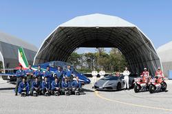 Andrea Dovizioso, Ducati Team, Michele Pirro, Ducati Team con la fuerza aérea italiana