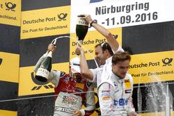 Podium: Edoardo Mortara, Audi Sport Team Abt Sportsline, Audi RS 5 DTM; Lucas Auer, Mercedes-AMG Team Mücke, Mercedes-AMG C63 DTM
