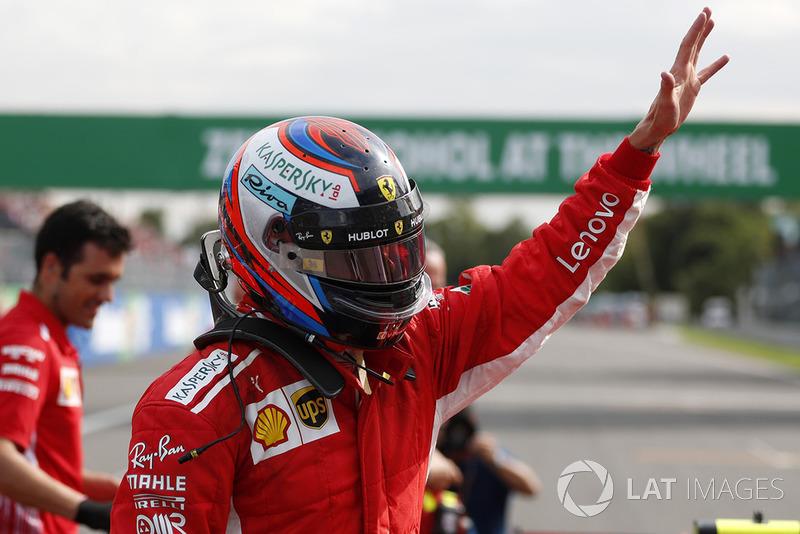 Pole pozisyonunun galibi Kimi Raikkonen, Ferrari