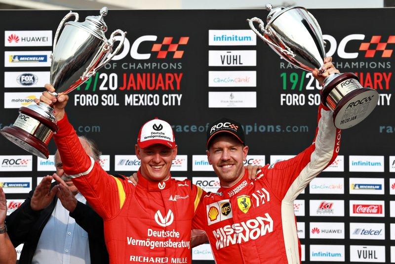 Sebastian Vettel y Mick Schumacher