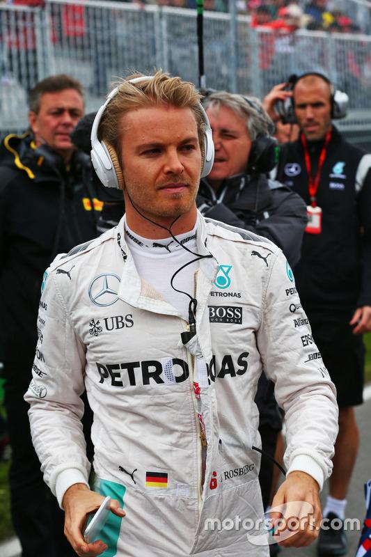 Ніко Росберг, Mercedes AMG F1, на стартовій решітціgrid