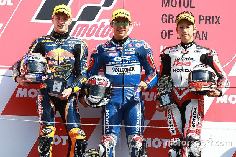 Podium: 1. Enea Bastianini, Gresini Racing Team Moto3; 2. Brad Binder, Red Bull KTM Ajo; 3. Hiroki O