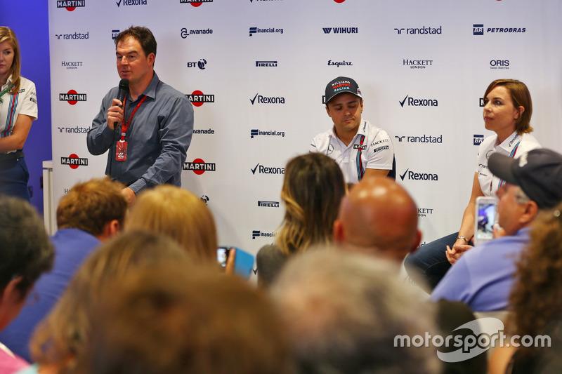 James Allen, Felipe Massa, Williams and Claire Williams, Williams Takım Patronu Vekili; Massa sezon