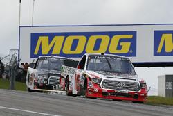 Ryan Truex, Hattori Racing Enterprises Toyota and Chase Briscoe, Brad Keselowski Racing Ford