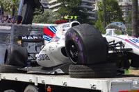 Unfallauto von Lance Stroll, Williams FW40