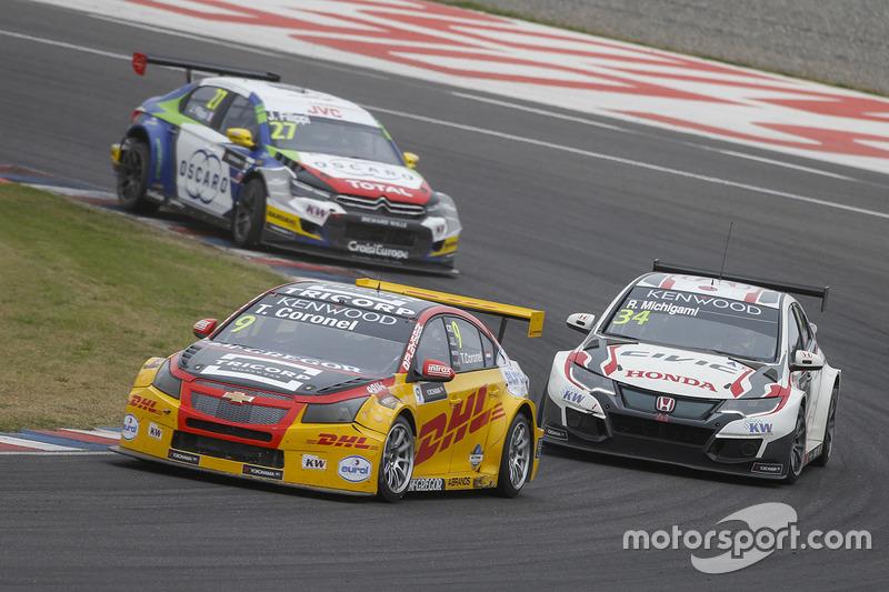 Tom Coronel, Roal Motorsport, Chevrolet RML Cruze TC1, Ryo Michigami, Honda Racing Team JAS, Honda Civic WTCC