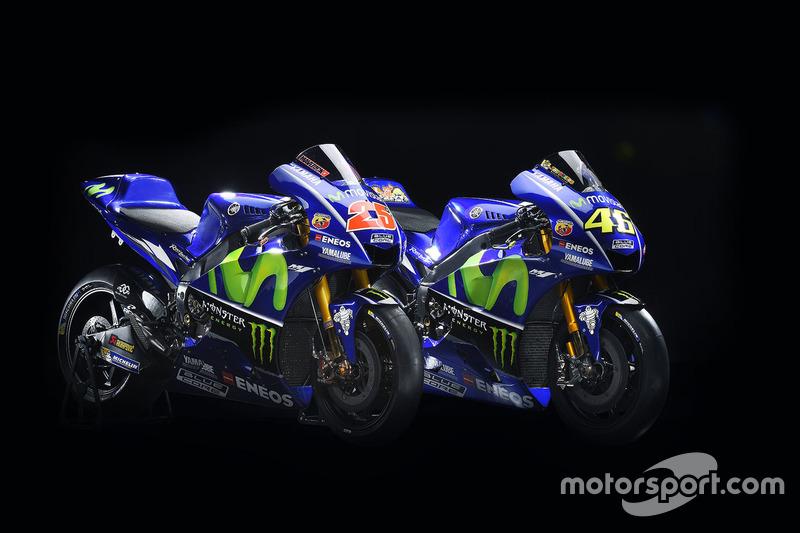 Die neuen Bikes von Maverick Viñales, Yamaha Factory Racing, und Valentino Rossi, Yamaha Factory Racing