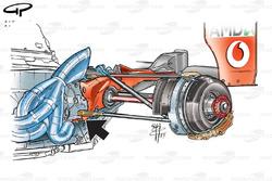 Ferrari F2003-GA (654) 2003 rear suspension and brake