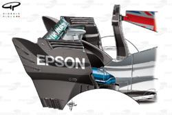 Mercedes W08 rear wing, Italian GP
