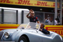 Kevin Magnussen, Haas F1 Team, on the drivers parade