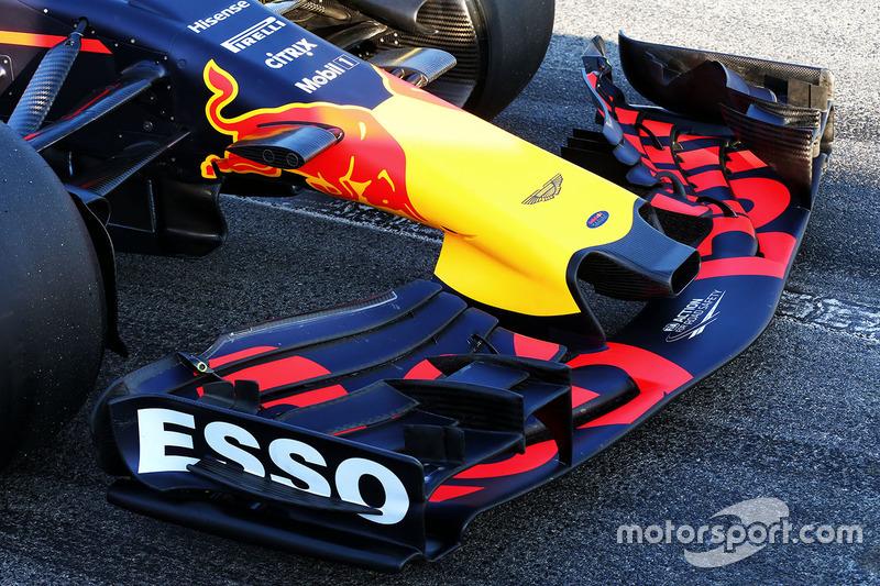 Le nez et l'aileron avant de la Red Bull Racing RB13