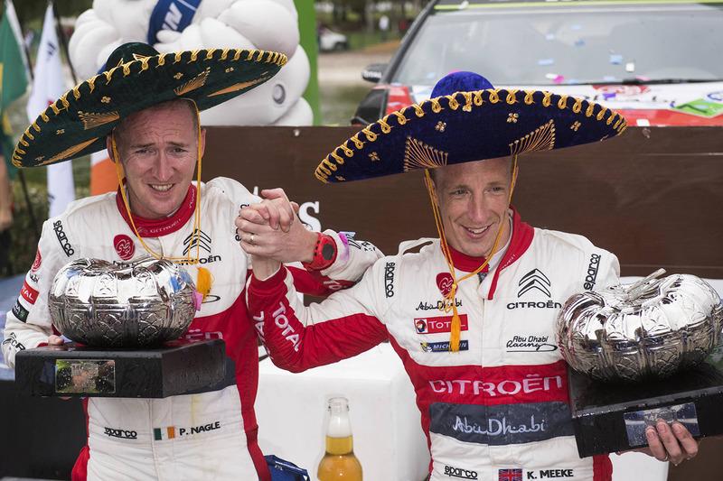 Podium: ganadores, Kris Meeke, Paul Nagle, Citroën World Rally Team