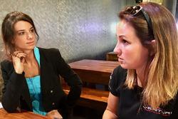 La giornalista Chiara Rainis e Delphine Biscayne, Team Venturi