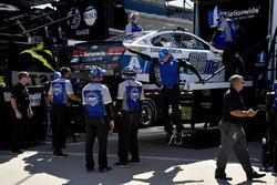 Dale Earnhardt Jr., Hendrick Motorsports Chevrolet backup car being unloaded