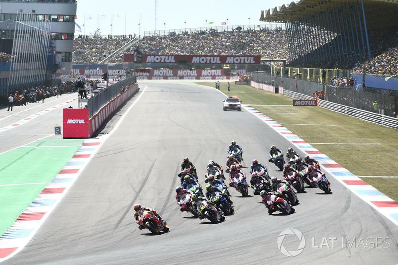 Salida Marc Marquez, Repsol Honda Team