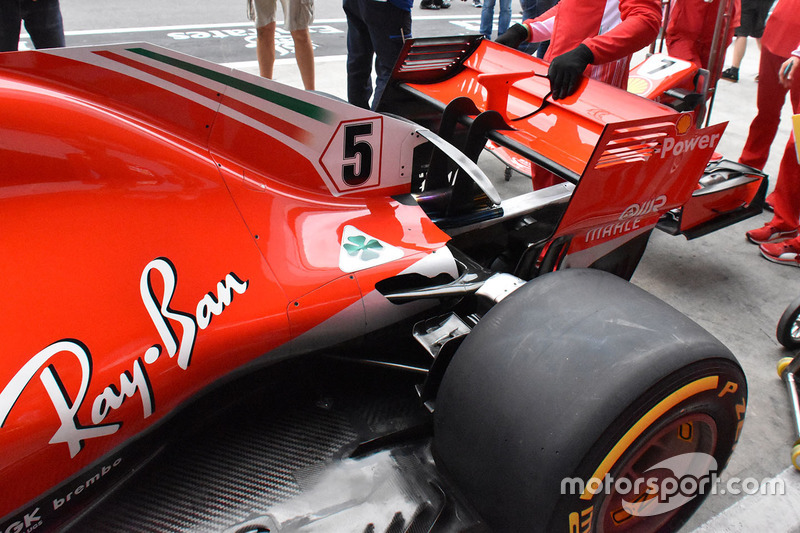 Ferrari SF71H rear wing detail
