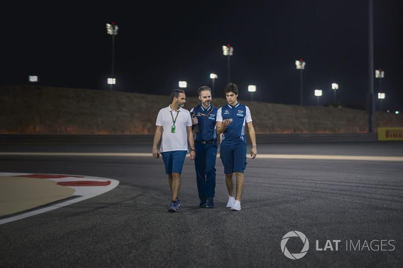 Lance Stroll, Williams walks the track