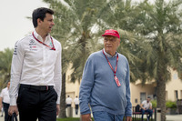 Toto Wolff, Mercedes AMG F1 Director of Motorsport and Niki Lauda, Mercedes AMG F1 Non-Executive Chairman