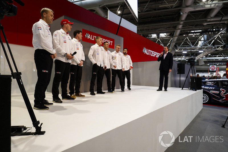 The Toyota WRC team meet Henry Hope-Frost on the Autosport Stage