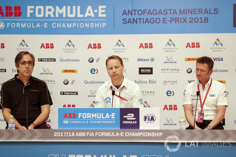 Press conference with Mark Preston, Techeetah Team Principal, Gary Hughes, Team Principal NIO Formula E Team, Allan McNish, Team Principal, Audi Sport Abt Schaeffler