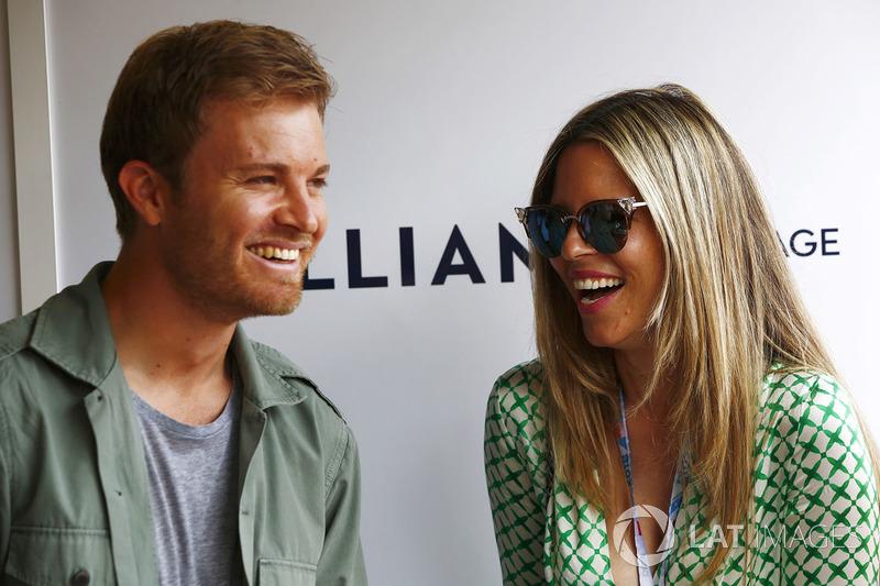 Nico Rosberg dan sang istri, Vivian Sibold