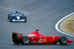 Michael Schumacher, Ferrari F1 2001 pierde el control