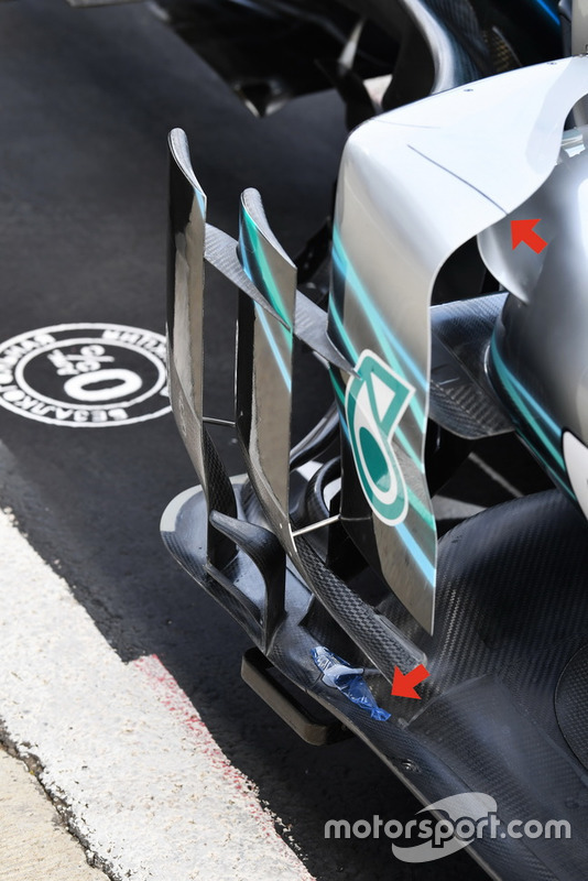 Bargeboard del Mercedes-AMG F1 W09