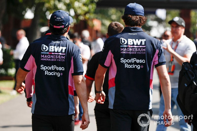 Sergio Perez, Racing Point, et Lance Stroll, Racing Point