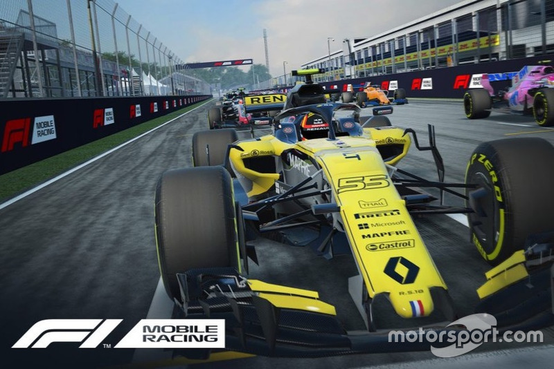 Captura del F1 Mobile Racing