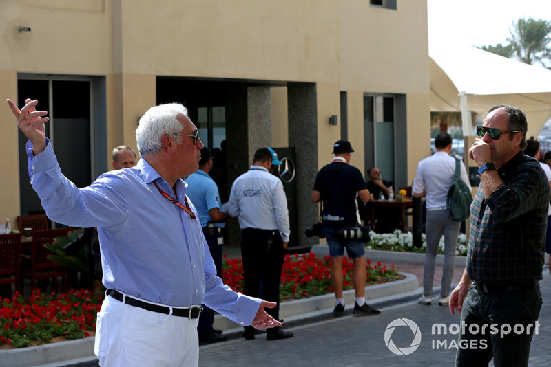 Lawrence Stroll, propriétaire de Racing Point Force India F1 Team et Gerhard Berger