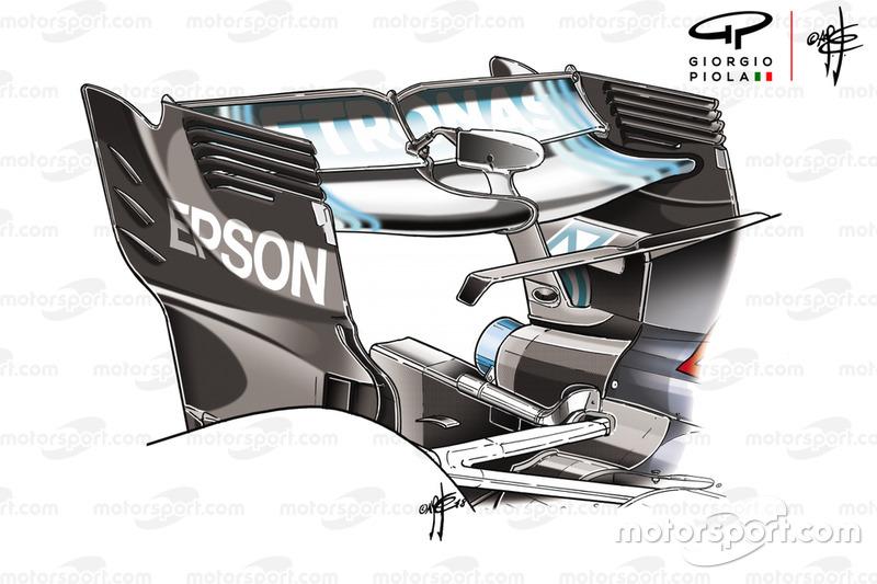Mercedes F1 AMG W09, hátsó szárny, Azerbajdzsán GP
