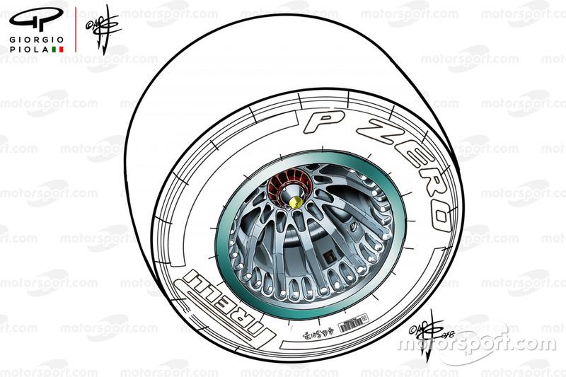 Rueda del Mercedes AMG W09
