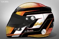 Pascal Wehrlein, la livrea del nuovo casco