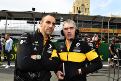 Cyril Abiteboul, Renault Sport F1 Direktör ve Nick Chester, Renault Sport F1 Team