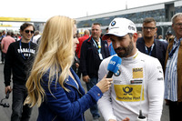 Timo Glock, BMW Team RMG with Andrea Kaiser, Sat1-TV