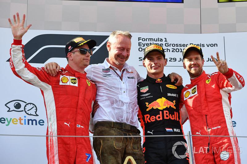 Kimi Raikkonen ficou em segundo e Vettel fechou o pódio. Hamilton enfrentou problemas em seu carro e abandonou a corrida, a primeira desde o GP da Malásia de 2016. O resultado devolveu o alemão à liderança do campeonato.