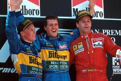Подіум: переможець Міхаель Шумахер (Benetton), другий призер Джонні Херберт (Benetton), третій призер Герхард Бергер (Ferrari)
