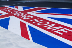 Its coming home on a Union Flag